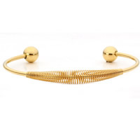 Stainless Steel Cuff Bangle gold color plated hollow 65mm Inner Diameter:Approx 60mm Length:Approx 7 Inch 2PCs/Bag