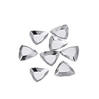 сеттинг для кабошона из нержавеющей, нержавеющая сталь, Треугольник, оригинальный цвет, 10.50x10x2mm, внутренний диаметр:Приблизительно 6x6mm, 1000ПК/Лот, продается Лот
