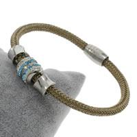 Пластиковые браслет, нержавеющая сталь, с клей & пластик, Женский, 12mm, длина:Приблизительно 8 дюймовый, 5пряди/сумка, продается сумка