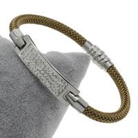 Пластиковые браслет, нержавеющая сталь, с клей & пластик, Женский, 54x10x3mm, длина:Приблизительно 8 дюймовый, 5пряди/сумка, продается сумка
