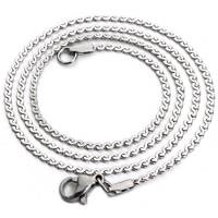 Stainless Steel Chain Necklace Unisex serpentine chain original color Length:Approx 17.5 Inch 2Strands/Bag