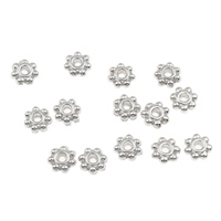 Zinc Alloy Spacer Beads platinum color plated lead   cadmium free 4x2mm Hole:Approx 1mm 100G/Bag