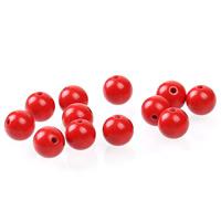 Киноварь бусы, Круглая, разный размер для выбора, красный, отверстие:Приблизительно 1mm, 50ПК/сумка, продается сумка