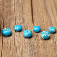 Impression Jasper Beads, Flat Round, natural, blue, Hole:Approx 1mm, 10PCs/Bag, Sold By Bag