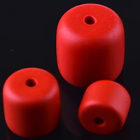 Киноварь бусы, Столбик, резной, разный размер для выбора, отверстие:Приблизительно 2mm, 10ПК/сумка, продается сумка