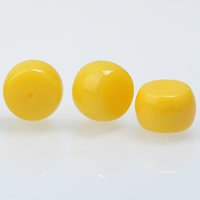 Yellow Baltic Amber Beads, Drum, yellow, 11x16mm, Hole:Approx 1mm, Sold By PC