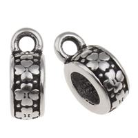 316 Roestvrij staal Bail Bead, Rondelle, zwart maken, 5x12mm, Gat:Ca 1.5mm, 4.5mm, Verkocht door PC