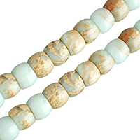 Aqua Terra Jasper Beads, Drum, natural, different size for choice, Hole:Approx 1.3mm, Length:Approx 16 Inch, Sold By Lot