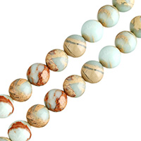 Aqua Terra Jasper Beads, Round, natural, different size for choice, Hole:Approx 0.5-1mm, Length:Approx 16 Inch, Sold By Lot