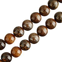 Bronzite Stone Beads, Round, natural, different size for choice, Hole:Approx 0.5-1mm, Length:Approx 15 Inch, Sold By Lot