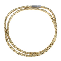 Leather Cord PU stainless steel bayonet clasp 2-strand 4mm Sold Per Approx 23.5 Inch Strand