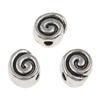 Zinc Alloy Jewelry Beads antique silver color plated lead   cadmium free 8x5mm Hole:Approx 2mm 100G/Bag