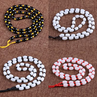 Шнуры для ожерелий, Нейлоновый шнурок, с канифоль, Много цветов для выбора, 5.5x8mm, длина:Приблизительно 20 дюймовый, 10пряди/сумка, продается сумка