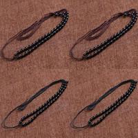 Шнуры для ожерелий, Нейлоновый шнурок, с канифоль, регулируемый, Много цветов для выбора, 6mm, длина:Приблизительно 20-29 дюймовый, 10пряди/сумка, продается сумка