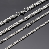 Stainless Steel Chain Necklace wheat chain original color nickel lead   cadmium free