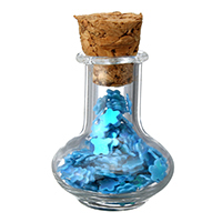 Szkło Globe wisiorek, ze drewno korek & Cekinów z tworzyw sztucznych, niebieski, 17.50x27x17.50mm, 100komputery/wiele, sprzedane przez wiele