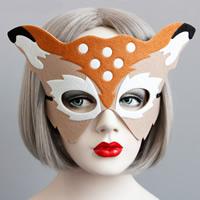 Fashion Party Mask, Войлок, с Сатиновая лента, Рождественские украшения, 180mm, 15ПК/Лот, продается Лот