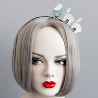 Резинки для волос, Войлок, с Железо, Рождественские украшения, не содержит никель, свинец, 50mm, продается PC