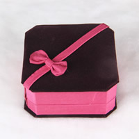 Velveteen Bracelet Box, with Cardboard, Square, 95x95x43mm, Sold By PC