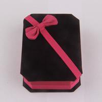 Pluszowe pudełko na bransoletkę, Welwet, ze Tektura, Prostokąt, 100x70x30mm, sprzedane przez PC