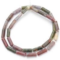 Natural Indian Agate Beads, Column, 4.5x13mm, Hole:Approx 1mm, Approx 30PCs/Strand, Sold Per Approx 15.5 Inch Strand