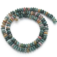 Natural Indian Agate Beads, Flat Round, 3x6mm, Hole:Approx 1mm, Approx 130PCs/Strand, Sold Per Approx 15.5 Inch Strand