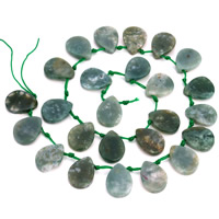 Natural Indian Agate Beads, Teardrop, 13.5x18mm, Hole:Approx 1mm, Approx 24PCs/Strand, Sold Per Approx 15.5 Inch Strand