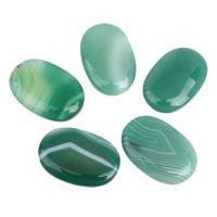 кружевной агат кабошон, Плоская овальная форма, плоской задней панелью, зеленый, 19x30x5mm-20x30x6mm, 5ПК/сумка, продается сумка