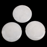Jade White Beads Flat Round 50x6mm-50x7mm Hole:Approx 1-1.5mm 5PCs/Bag