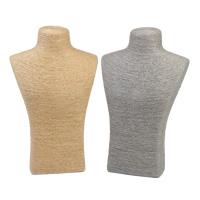Linen Necklace Display, with Cardboard, more colors for choice, 180x290x80mm, Sold By PC