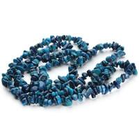 Бусины из натурального коралла, Синтетический коралл, Комкообразная форма, голубой, 5-8mm, отверстие:Приблизительно 1.5mm, Приблизительно 120ПК/Strand, Продан через Приблизительно 31 дюймовый Strand