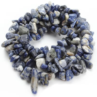 Natural Blue Spot Stone Beads, Nuggets, 8-12mm, Hole:Approx 1.5mm, Approx 76PCs/Strand, Sold Per Approx 31 Inch Strand