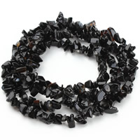 Natural Black Stone Beads, Nuggets, 5-8mm, Hole:Approx 1.5mm, Approx 120PCs/Strand, Sold Per Approx 31 Inch Strand