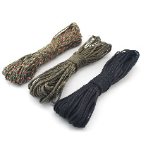 Paracord, 330 Paracord, 4mm, 3Strands/Lot, Approx 31m/Strand, Sold By Lot