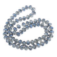 Clearance Gemstone Beads, Crystal, faceted, 6x8mm, Sold Per Approx 17.5 Inch Strand
