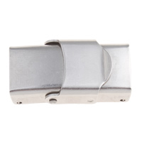 Watch Band Clasp, Stainless Steel, original color, 25x14x8mm, Hole:Approx 10x4mm, Sold By PC