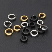 Модные серьги каффы, нержавеющая сталь, Другое покрытие, Много цветов для выбора, 4x9mm, продается Пара