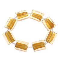 Clearance Fashion Bracelet, Lampwork, handmade, gold foil, 21x15x6mm, Sold Per Approx 7 Inch Strand