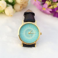 Women Wrist Watch, PU, with zinc alloy dial & Glass, plated, adjustable & for woman, more colors for choice, nickel, lead & cadmium free, 35mm,  20mm, Length:Approx 9 Inch, Sold By PC
