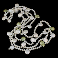 Clearance Fashion Necklace, Freshwater Pearl, 2-strand, 14x16x4mm, Sold Per Approx 56.5 Inch Strand