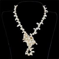 Maavara Fashion kaulakoru, Makeanveden helmen, luonnollinen, valkoinen, 6-7mm, Myyty Per N. 29.5 tuuma Strand