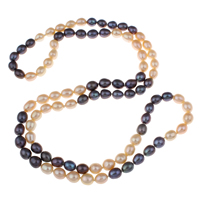 Clearance Fashion Necklace, Freshwater Pearl, Rice, 7-8mm, Sold Per Approx 31 Inch Strand