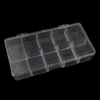Plastic Kralen Container, Doos, 176x83x31mm, Verkocht door PC