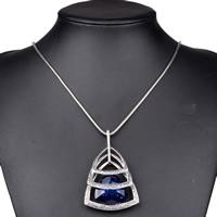 Австрийских кристаллов ожерелья, Латунь, с Австрийский хрусталь, с 5cm наполнитель цепи, Треугольник, плакированный цветом под старое серебро, змея цепи & граненый, не содержит никель, свинец, 400mm, Продан через Приблизительно 15.5 дюймовый Strand