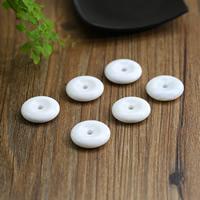 Бусины из ракушек крупных моллюсков, морское ушко, Плоская круглая форма, натуральный, белый, Оценка AAAAA, 28x7mm, отверстие:Приблизительно 1-3mm, продается PC