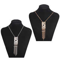 Fashion Fringe Necklace, Zinc Alloy, with Resin, plated, twist oval chain & for woman, more colors for choice, nickel, lead & cadmium free, Sold Per Approx 17.7 Inch Strand