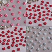 ABS пластик жемчужина кабошон, Форма цветка, плоской задней панелью, Много цветов для выбора, 12mm, продается сумка