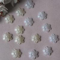 ABS пластик жемчужина кабошон, Форма цветка, плоской задней панелью, Много цветов для выбора, 14mm, продается сумка
