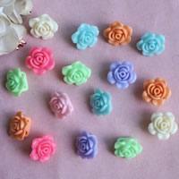 Акриловые соединители, Акрил, Форма цветка, 1/1 петля & ровный цвет, разноцветный, 12x18mm, отверстие:Приблизительно 1mm, Приблизительно 360ПК/сумка, продается сумка