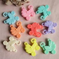 Акриловые соединители, Акрил, Детские коляски, разный размер для выбора & 1/1 петля & ровный цвет, разноцветный, отверстие:Приблизительно 1mm, продается сумка